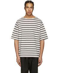 Acne Studios - Beige Nimes T-shirt - Lyst