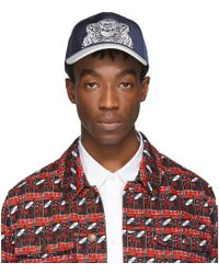 KENZO - Navy And White Limited Edition Canvas Tiger Cap - Lyst