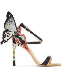 Sophia Webster Chiara Embroidery Heeled Sandals - Black