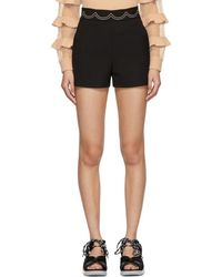 RED Valentino Short noir Embroidered Scallop