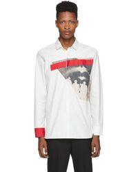 Neil Barrett Off-white Modernist Print Shirt