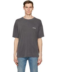 we11done - Grey Oversized T-shirt - Lyst