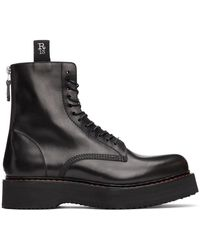 R13 - Black Single Stack Boots - Lyst