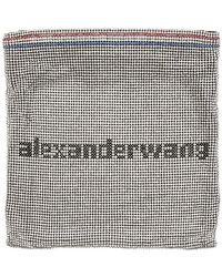 Alexander Wang - シルバー ラインストーン チェーン メッシュ Wangloc ポーチ - Lyst