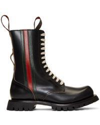 Gucci - ブラック Arley ブーツ - Lyst