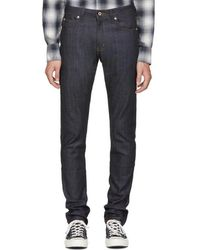 Naked & Famous - Blue Cashmere Super Skinny Guy Jeans - Lyst