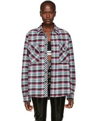 Off-White c/o Virgil Abloh - Multicolour Quote Check Shirt - Lyst