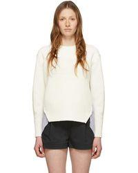 3.1 Phillip Lim - ホワイト パッチワーク ウーブン コンボ セーター - Lyst