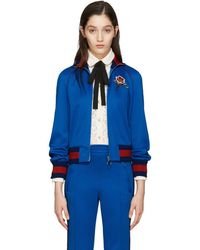 Gucci - Embroidered Stretch-Cotton Track Jacket - Lyst