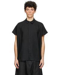 Jan Jan Van Essche Black Linen & Paper Shirt