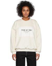 Fear Of God オフホワイト Sixth Collection パッチ ロゴ スウェットシャツ