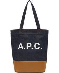 A.P.C. - Logo Tote - Lyst