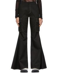 Sunnei Flared Cargo-fit Trousers - Black