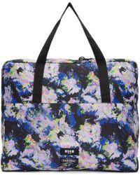 MSGM - Multicolour Eastpak Edition Flowers Tote Bag - Lyst