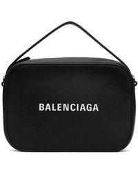 Balenciaga - ブラック ロゴ メッセンジャー バッグ - Lyst