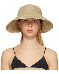 ROKH Beige Cotton Sun Hat - Natural