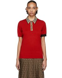 Burberry Polo rouge Penk