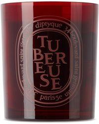 Diptyque Bougie rouge à parfum de tubéreuse, 300 g