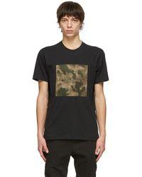 Rag & Bone Ink Camo Logo Tee Cotton Jersey T-shirt - Black