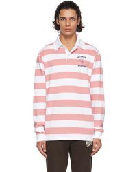 BBCICECREAM Heartmind Striped Rugby Polo - Pink