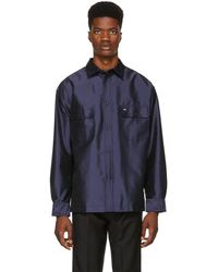 KENZO - Navy Flying Casual Over Shirt - Lyst