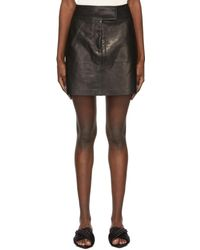 Khaite Mini-jupe 'The Giulia' noire en cuir