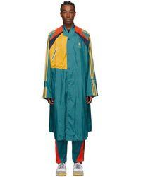 BED j.w. FORD Adidas Originals Edition グリーン And マルチカラー ロング コート