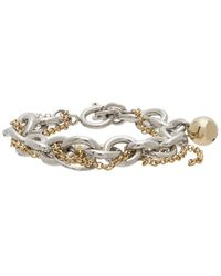 Justine Clenquet Gold And Silver Lewis Bracelet - Metallic
