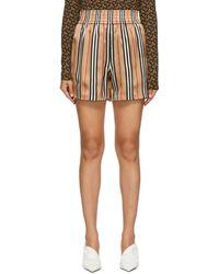 Burberry Beige Marsett Shorts - Multicolour