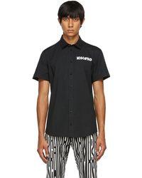 Moschino ブラック Symbols ロゴ ショート スリーブ シャツ
