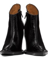 CHARLOTTE KNOWLES Black Serpent Heeled Boots