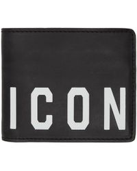 DSquared² - Black Icon Wallet - Lyst
