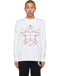 Burberry T-shirt à manches longues blanc Globe Star