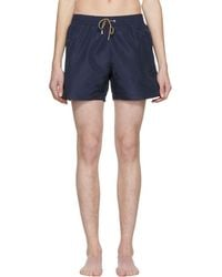 Paul Smith - Navy Classic Solid Swim Shorts - Lyst