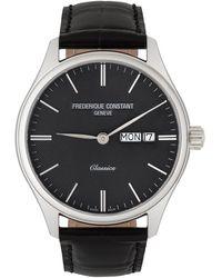 Frederique Constant シルバー & ブラック Classics Quartz Day-date 腕時計 - メタリック
