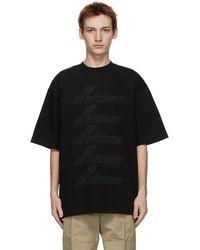 we11done ブラック ロゴ T シャツ