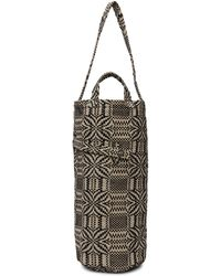 Bode Black & Off-white Cinched Coverlet Tote