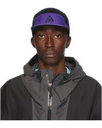 Nike Black And Purple Aw84 Cap