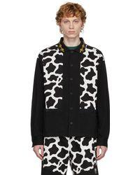 Brain Dead & White Cow Cabana Shirt - Black