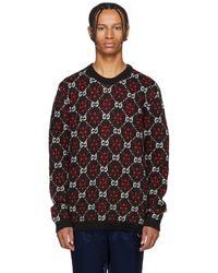 Gucci ブラック And レッド GG ロゴ セーター
