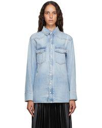 Givenchy ブルー デニム ウエスタン シャツ