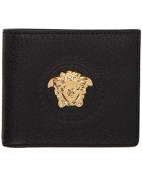 Versace Black Palazzo Bifold Wallet