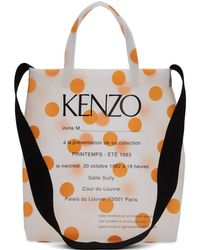 KENZO - オレンジ ポルカドット Invitation トート - Lyst