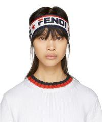 Fendi - Navy And White Mania Headband - Lyst