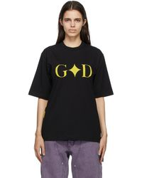 Youths in Balaclava 'god' T-shirt - Black