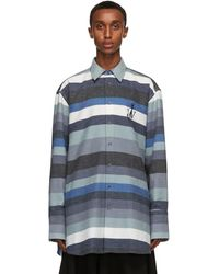 JW Anderson ブルー オーバーサイズ シャツ