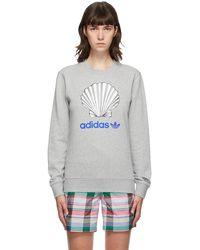 Noah Adidas Edition グレー Shell ロゴ スウェットシャツ