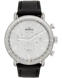 Shinola Silver And Black The Canfield Sport 45mm Watch - Metallic