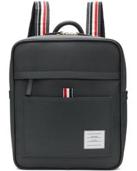 Thom Browne Gray Zip Top Book Backpack