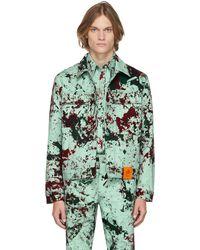S.R. STUDIO. LA. CA. Ssense Exclusive Green Hand-dyed Soto Straight-cut Jacket